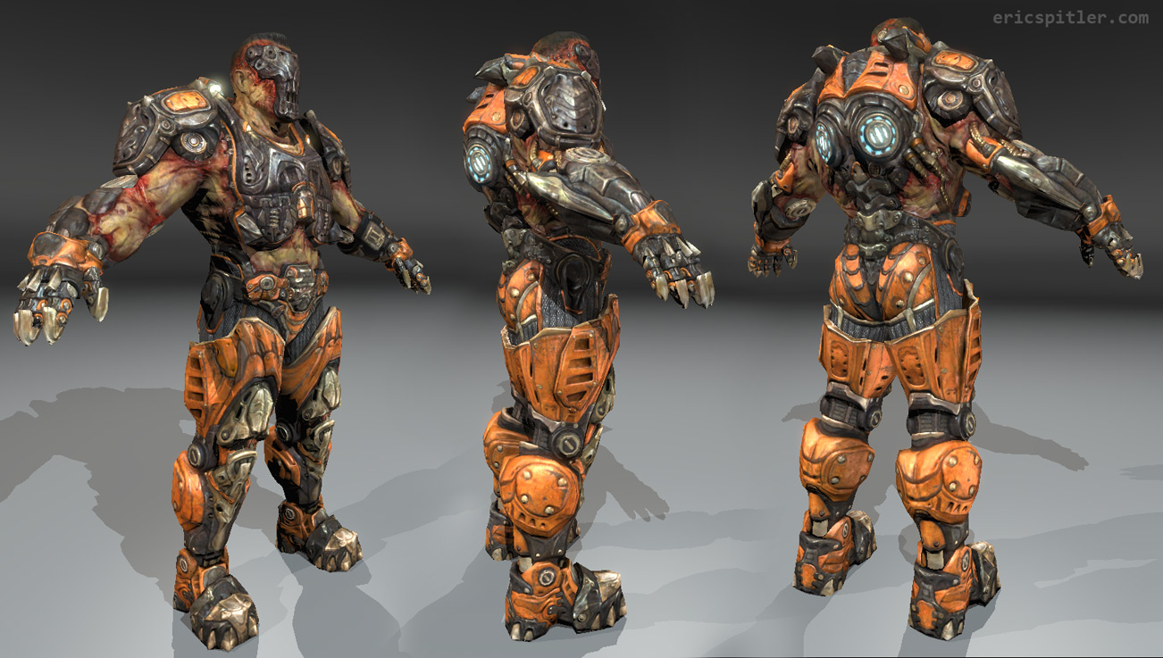 The Character  Visor  From The Game Quake III Arena  By Id Software
